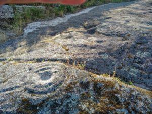 Zona inferior da rocha